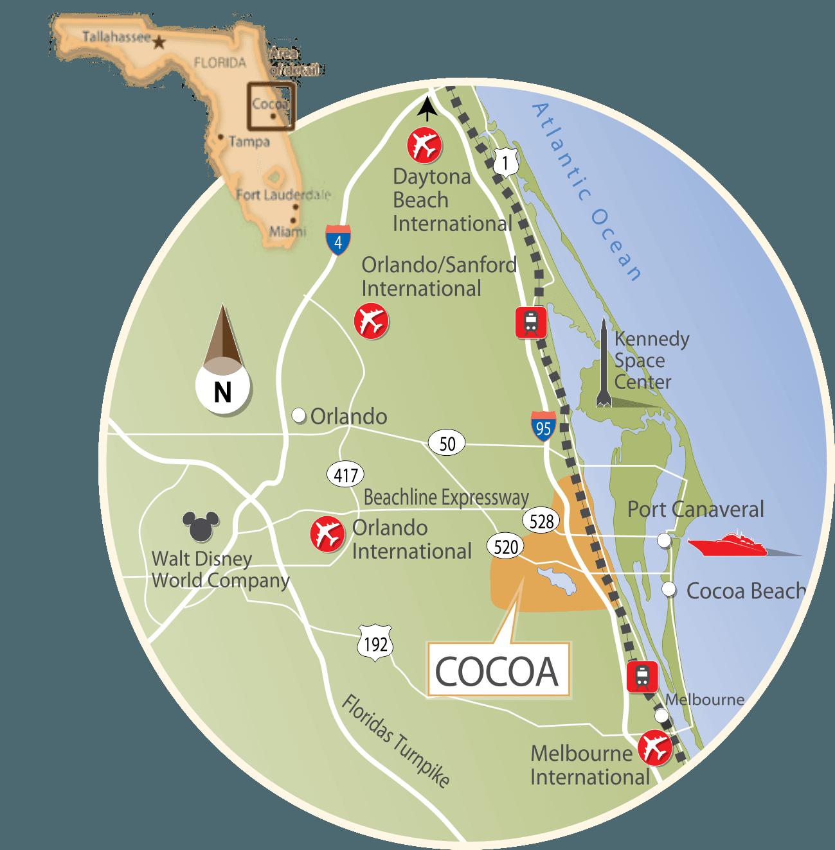 Coco Beach Florida Map.Discover Cocoa Cocoa Economic Development Fl